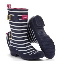 Navy Stripe Mollywelly Womens Mid-Calf Welly | Joules US