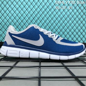 HCXX N084 Nike Air Zoom Free RN 5.0 Breathable Causal Running Shoes Grey Blue