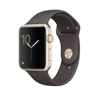 Apple Watch - Gold Aluminum Case with Cocoa Sport Band