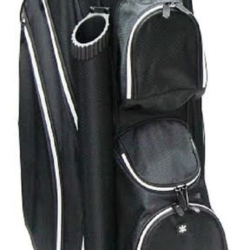 "New RJ Sports 9"" Lightweight  Golf Cart Bag - Black/Black DS-590"
