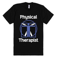 Physical Therapist (T Shirt)-Unisex Black T-Shirt