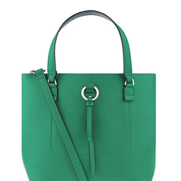 Accessorize | Double Handle Bucket Bag | Green | One Size | 4907913000
