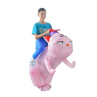 2017new Inflatable cat Costume - Fan Operated Adult  Kids Size Halloween Cosplay Animal lovely Felinae  Cosplay