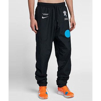 OFF WHITE Nike Fashion Couple Casual Print Sport Stretch Pants Trousers Sweatpants