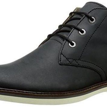 Lacoste Men's Sherbrooke HI 116 1 Chukka Boot, Black, 11.5 M US