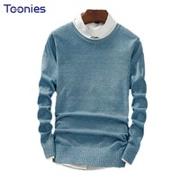 2017 Autumn Men Knitted Sweater Male Slim Fit Long Sleeve Solid Color Pullovers Masculino Sueter Hombre Pull Homme Tops Casual