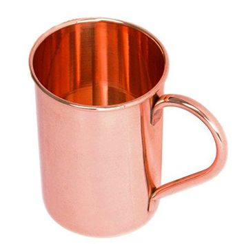 STREET CRAFT Straight Solid Copper Moscow Mule Mug Classic Pure Copper Mug Cup Capacity 16 Oz