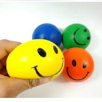 6.3cm Funny Relief Toy Smiley Face Anti Stress Reliever Ball Autism Mood Squeeze Toys Random color