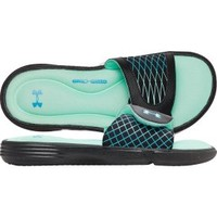 Under Armour Women's Ignite V Slide - Black/Turquoise | DICK'S Sporting Goods