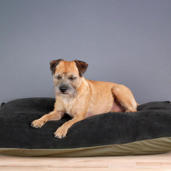 Designer Dog Bed (Medium, Large) - Charcoal Grey Corduroy pet bed