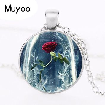 Hot Sale 2017 Beauty and the beast Collares beauty and the beast Women's best friends jewelry pendant HZ1