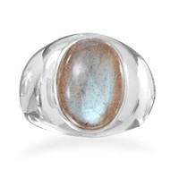 Oval Labradorite Ring
