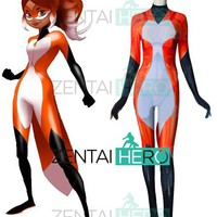 3D Printed Rena Rouge Miraculous Ladybug Cosplay Costume Spandex Rena Rouge Superhero Costume The Girl/Woman Halloween Costumes