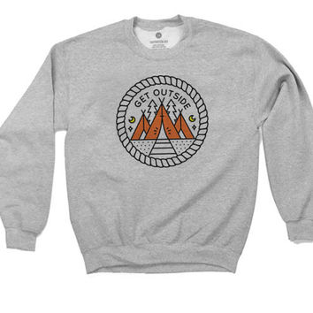 Get Outside - Sweatshirt - Heather Grey