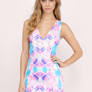 Electric Summer Plunge Bodycon