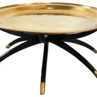 Chinoiserie Brass Tray Coffee Table
