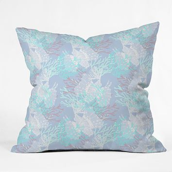 Aimee St Hill Tiger Fish Blue Throw Pillow