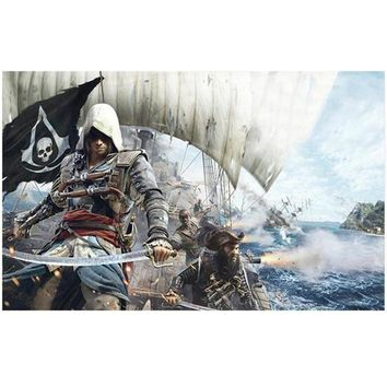 5d diy diamond painting cross stitch 3d diamond embroidery kits assassins creed picture mosaic Home Decor wall painting JS1968