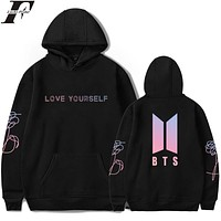 LUCKYFRIDAYF BTS Kpop Love Yourself Harajuku Cap Sweatshirt Bangtan Boys Fashion Hoodies 2017 Women/Men Autumn Kpop Fans Clothes