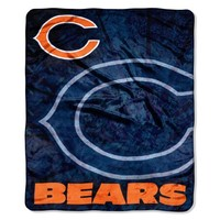 NFL Chicago Bears Raschel Plush Throw Blanket, Roll Out Design