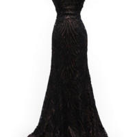 KC131570 Sequin Animal Print Prom Dress by Kari Chang Couture