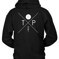 DCCKG72 Twenty On Pilot Cross Logo Illustration Hoodie Two Sided