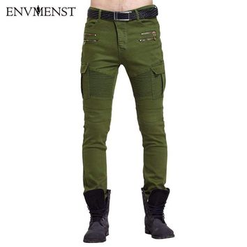envmenstMens outdoors tactical pants  cotton fitness joggers trousers homme asian size