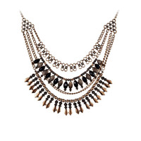 Multi Rows Statement Necklace