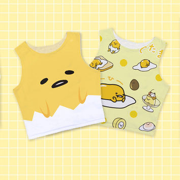 Gudetama Lazy Egg Crop Tank Top! 2 Styles Available.