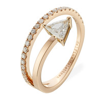 Delfina Delettrez - Marry Me 18kt Pink Gold Ring with Diamonds