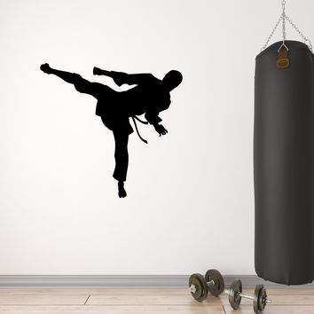 Vinyl Decal Wall Sticker Karate Martial arts Silhouette Man Sport Unique Gift (g088)
