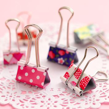 24 pcs/lot Mini Cute Kawaii Metal Photo Holder Paper Clips Office Accessories Clip Binder Paperclip Clamps