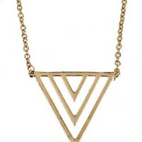 ROMWE   Hollow Out Neon Triangle Necklace, The Latest Street Fashion