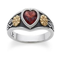 Heart Ring with Garnet | James Avery