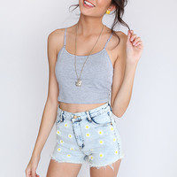 Basic Crop Top - Grey