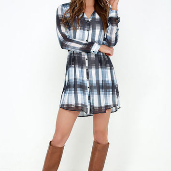 Jack by BB Dakota Cahill Blue Plaid Dress