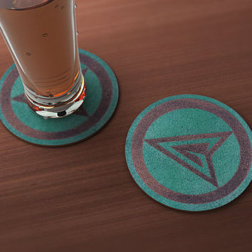 The Green Arrow Geek Drink Coaster