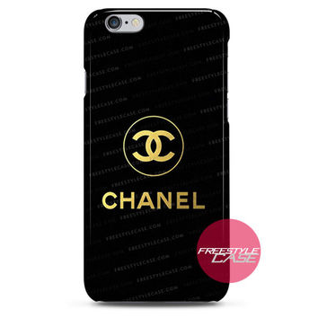 Chanel Gold Logo iPhone Case 3, 4, 5, 6 Cover