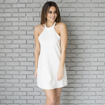 Athletic A Line Dress In Ivory