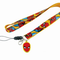 Marvel Spider-Man Lanyard Keyring with Dangle