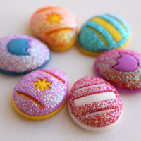 6 Self Adhesive Small Dimensional Easter Eggs