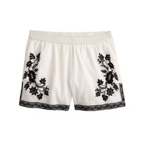 J.Crew Womens Embroidered Cotton Gauze Short