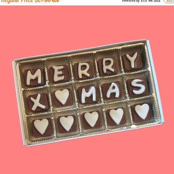 Personalize Holiday Christmas Gift for Teens Kids Men Women Him Her Merry Xmas Customize Name Cubic Chocolate Letters Message AK Apo Canada