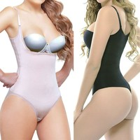 Full Body Shaper  Underbust Thong Corset Bodysuit Jumpsuit Shapewear