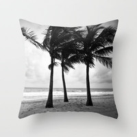 Three Palm Trees Throw Pillow by Jennifer Jackson .photography. | Society6