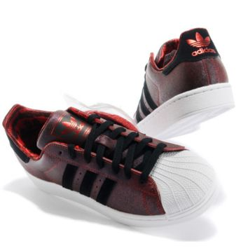 """Adidas"" Fashion Shell-toe Flats Sneakers Sport Shell-toe Shoes Red-brown"
