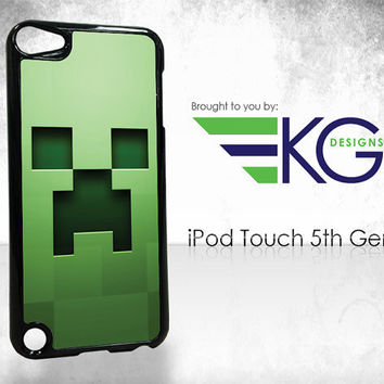 Creeper  iPod Touch 5th Generation Case by KirbyGraphix on Etsy