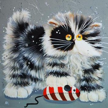 5D Diamond Painting Stripes Puff Cat Collection Kit