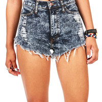 Static Fray High Waist Shorts