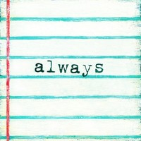 Always Vintage Art Print on Wood